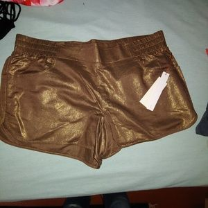 12th Street by Cynthia Vincent bronze gym shorts